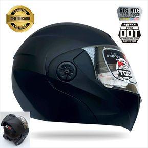 bdf670efe65ab Casco Certificado Abatible Para Moto Ich 3110 Negro