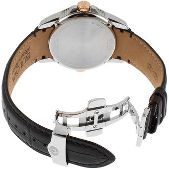 332ac46797af Agotado Reloj Bulova 65B154 Calibrator Correa De Cuero 43mm Automático  Suizo - Negro