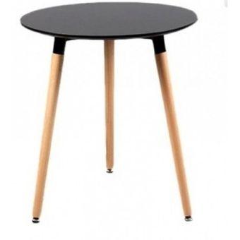 Compra Mesa Comedor 3 patas tipo Eames 80 cm Diámetro - Negra online ...