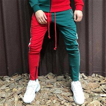 Nuevo Diseno De Moda Pantalones De Dos Colores Para Hombres Ropa Casual Para Hombres Ropa Para Hombres Pantalones Informales Con Cremallera Jogger Wot Red Green Linio Peru Ge582fa1envntlpe