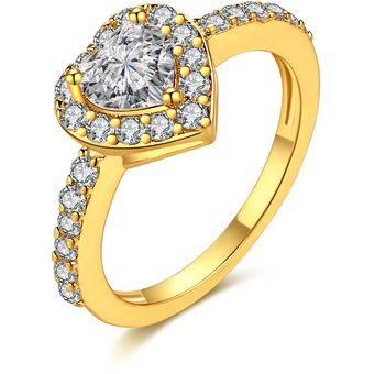 a538987eb548 Compra Romántico Mujer Doble   Oro Chapado Anillo online