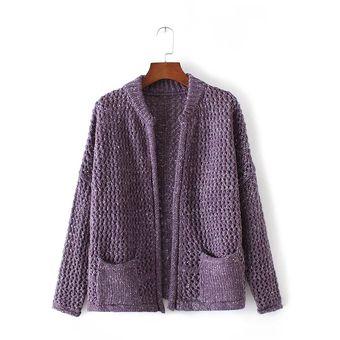 Compra Sueter y chaqueta para mujer de estilo casual y modelo color ... a1d9cd87aa1c