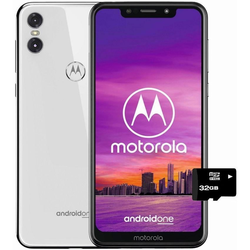 ebe36be7172 Creditienda - Moto One 64gb+4+MicroSD32gb GRATIS Dual Sim Liberado-blanco