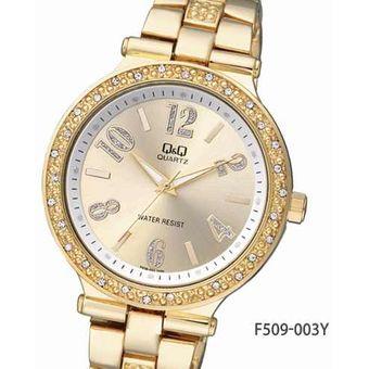 5c77c7c3babb Compra Reloj Q q Para Dama F509-003Y Pulso En Acero Dorado Original ...