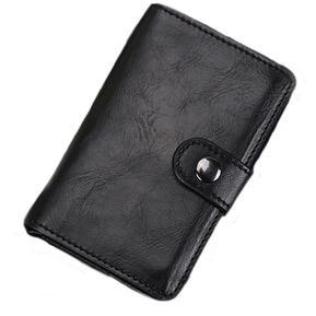 54c8cb29f Cartera Tarjetero Elegante Con Porta Billetes Para Caballero - Negro