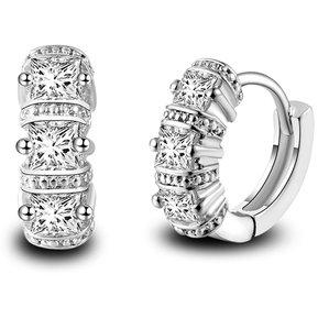 47d462bbdaef Clasico Simple Personalidad Elegante Aretes De Diamantes Para Mujer (plata)