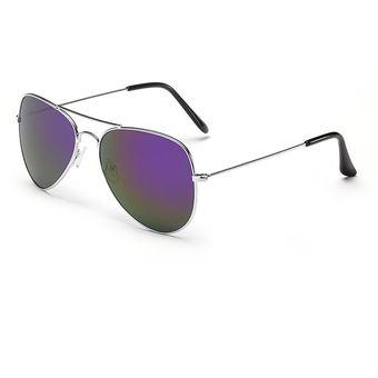 952e57d684 Agotado Aviador Estilo Gafas De Sol Clásico Hombre Mujer Lentes -Plateado+  Púrpura Mercurio