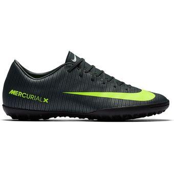 60244325a Agotado Tenis Fútbol Hombre Nike Mercurial Victory VI CR7 TF -Negro Y  Amarillo