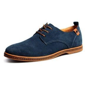 0213a3cf Casuales Hombres Zapatos De Cuero Hombre Ante Oxfords Hombres