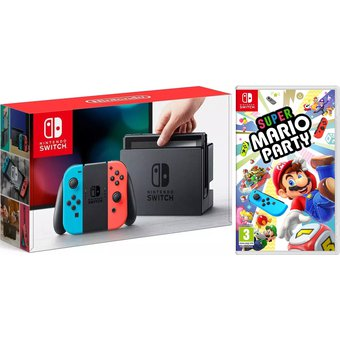 Nintendo Switch Neon Con Juego Mario Party