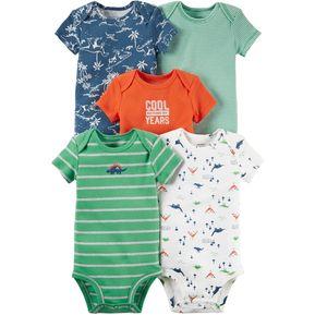 694af3753 Carter's 5 Bodysuits De Algodón Para Bebé Niño - Multicolor