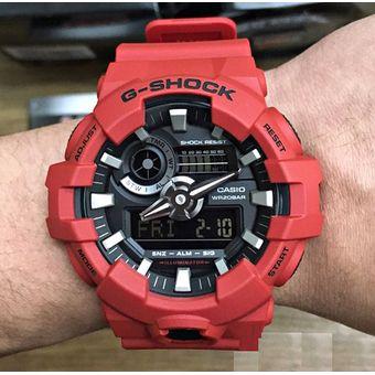 Agotado Reloj Casio G-Shock GA-700-4A Analógico Y Digital Hombre - Rojo 1462bc093404
