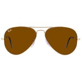 4c971b265b Ray Ban Aviator 3025 001/33 Marco Dorado / Lente Café Talle M 58mm Gafas