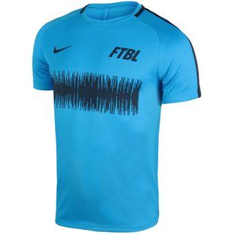Compra Camisa Deportiva Hombre Nike Dry Academy Graphic-Azul online ... 903316b40c4e5