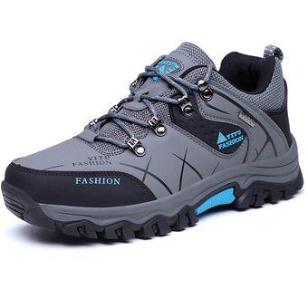 nuevo estilo d7f9f 1f054 Zapatos TENIS Deportivos Hombre Al Aire Libre Alpinismo Zapatillas -Gris