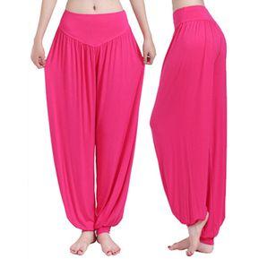 Ropa De Yoga Pantalones De Yoga Pololos Pantalones De Baile Pantalones De Tai  Chi -Rosa abbed6b0dd45