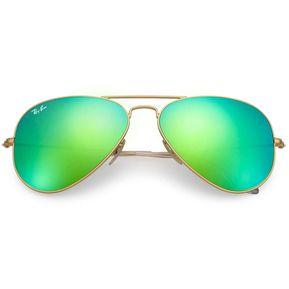 82db6f494dd48 Ray Ban Aviator 3025 112 19 Flash Lentes Dorado   Verde Espejo Talle M