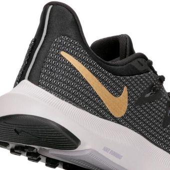 Zapatillas Running Mujer Nike Quest Negro con Dorado