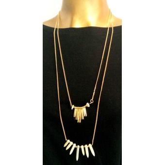 61ab4888de47 Compra Collar WOW! Dorado Marfil online