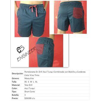 Cs Engineer Man Hombre Pantaloneta Corta Combinada En Drill Strech Linio Colombia Cs285fa01l1u2lco
