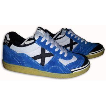 diseño elegante lindo baratas estilos clásicos Zapatos Tenis Munich X Zapatillas Fútsal Fútbol Salón Azul Blanco