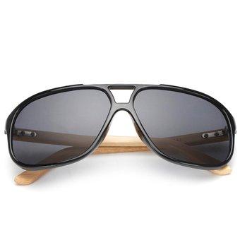 Agotado Vintage Bambú Gafas De Sol De Madera Gafas Para Sol Espejo Los  Anteojos -Negro 8e5b652e955d