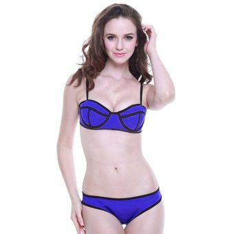 792e77ea1 Las Mujeres De Color Sólido Conjunto Bikini Sexy Empujar Hacia ...