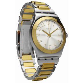 784c9a9a9653 Reloj Swatch Tribute To Myself YLS192G Para Dama-Dorado Y Plateado
