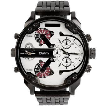 0c63e1cfa0b2 ER Relojes Hombre Oulm Circular De Cuarzo Doble Movimiento De Reloj Grande  3548 Harina De Cáscara