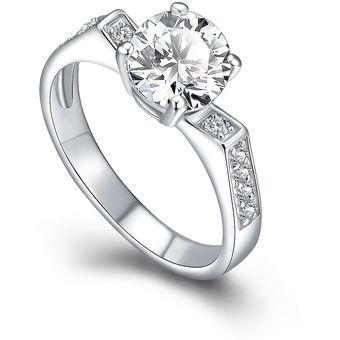 1497a0a9f317 Compra Záffira - Anillo Compromiso Con Cristales Swarovski - Blanco ...