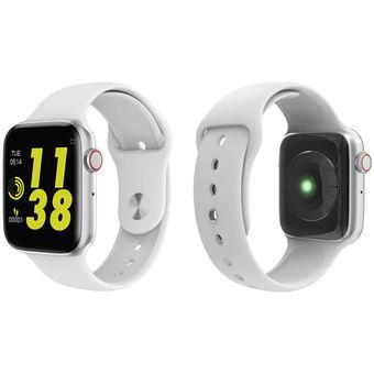 reunirse mas bajo precio lindos zapatos W34 Bluetooth Call reloj inteligente ECG Monitor de ritmo cardíaco  Smartwatch hombres mujeres para Android iPhone xiaomi band PK iwo8  4(#blanco)