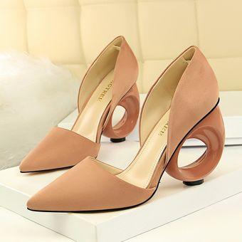 Bajo Gamuza De Compra Sandalias Mujer Moda Tacón Zapatos Para NwPnO0X8k