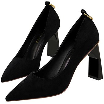 24e2f00a Compra Zapatos De Tacon Gamuza Tailun-Cool Para Mujer-Negro online ...