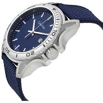 Reloj Calvin Klein Earth K5Y31UVN Suizo Acero Inox Correa De Nailon - Azul 65c2002fb0e4