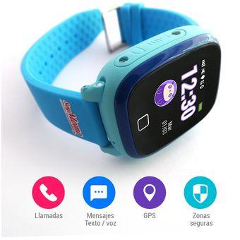 ahorrar 5d1be b6f48 Reloj Celular Soy Momo H2o Gps Para Niño Azul (Resistente al agua)