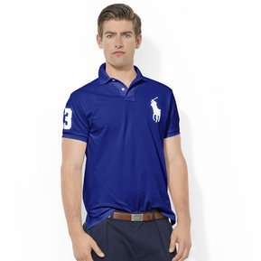 9e2c32152ba34 Playera Polo By Ralph Lauren Custom Fit Color Azul Marino Con Blanco