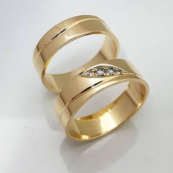 648d81d25c3d Argollas Matrimonio Compromiso Special Light Gold Oro El Señor De Los  Anillos ADa185