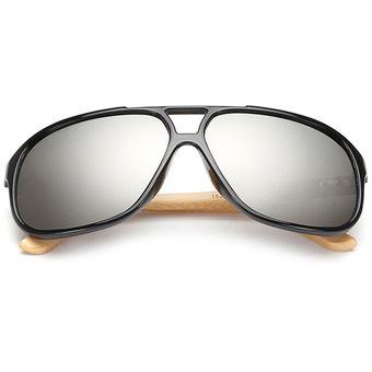 Agotado Vintage Bambú Gafas De Sol De Madera Gafas Para Sol Espejo Los  Anteojos -Negro + 60b0c51b2af3
