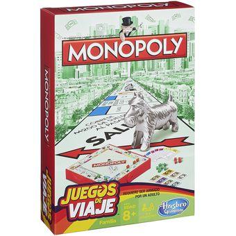 Compra Hasbro Juegos De Viaje Juego De Mesa Monopoly Online