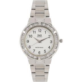 6b1ebb80c740 Reloj QYQ Q Q QA29J204Y Para Dama Plateado  Cristales Lujoso