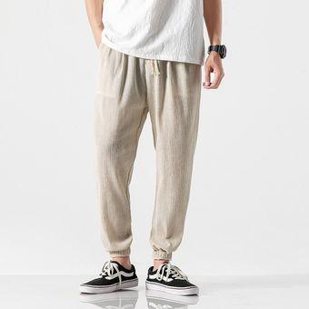 Hip Hop Algodon Lino Casual Harem Pantalones Hombres Joggers Hombre Pantalones De Verano Hombre Estilo Chino Pantalones Holgados 2020 Harajuku Clothe Beige Linio Peru Un055fa0f3rhjlpe