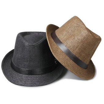 Agotado EY Elegante Sombrero De Paja Del Verano Del Casquillo Del Sombrero  Salacot Fedora Trilby Panamá Casquillo 1866f9707d5