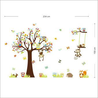 Colores Bebe.Vinilo Decorativo Multicolor Animales Pegatinas Pared Calcomanias Selva Colores Bebe Ninos Dormitorio