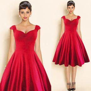 b5ace9308 Vestido De Noche Casuales Sin Manga Cuero V-rojo