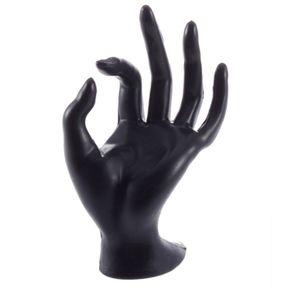 3a887bf570d8 Anillo De Joyería Pulsera Collar Colgante Pantalla Mano Soporte Mostrar  Rack Negro