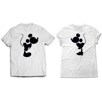 78f72625fbb01 Compra Ztamp Pack Camisetas Estampadas Parejas Mickey Mouse - Blanca ...