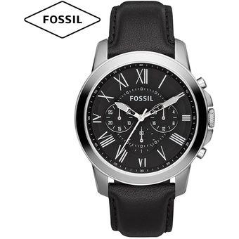 413a7919c6a8 Compra Reloj Fossil Grant FS4812 Cronometro Correa De Cuero - Negro ...
