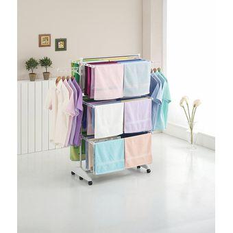 Compra tendedero estante retr ctil plegable de secado portable ideal para interiores online - Tendederos de interior ...