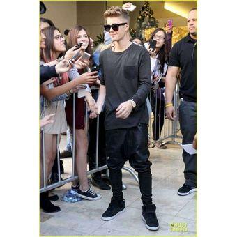 Pantalones De Cuero De Moda Para Hombre De Justin Bieber Con El Mismo Estilo Pantalones Bombac Mis Linio Peru Un055fa0wg49flpe