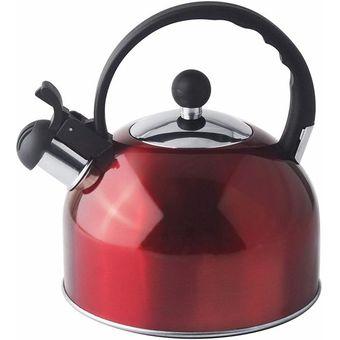 Cocina De Inducci/ón Estufa De Gas Tetera De Grado Alimenticio para Estufa Tetera De Acero Inoxidable con Mango A Prueba De Calor Tetera para Estufa Xeroy Tetera con Silbido De 3,5 L